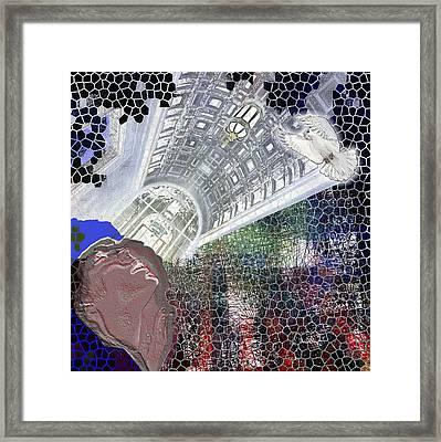 The Dove Framed Print by Maria Jesus Hernandez