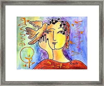 The Dove Whisperer Framed Print