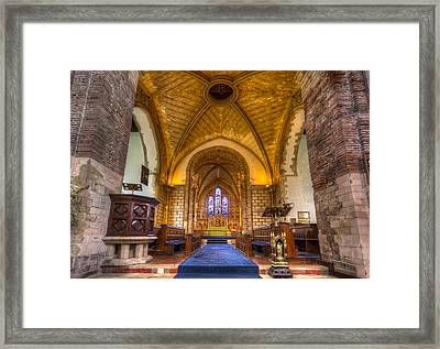 Framed Print featuring the photograph The Dover Church Of St. Mary In Castro by Tim Stanley
