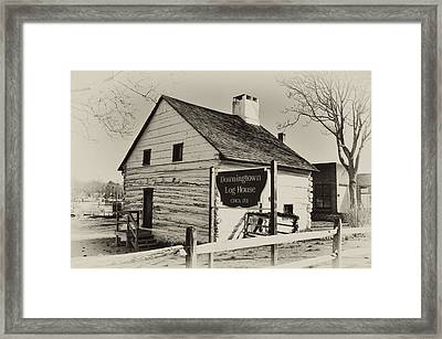 The Downingtown Log House  Framed Print by Bill Cannon