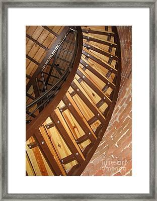 The Downside Of Spiral Stairs Framed Print by Ausra Huntington nee Paulauskaite