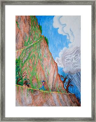 The Downward Path Framed Print by Matt Konar