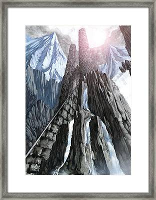 The Dragon Gate Framed Print by Curtiss Shaffer