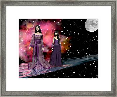 The Dragon King's Daughters Framed Print