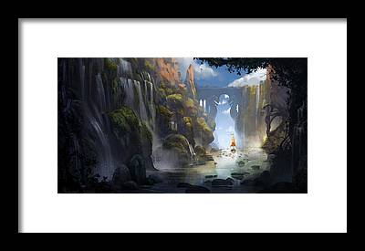 Dragon Boats Framed Prints