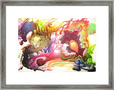 Framed Print featuring the painting The Dragon by Lucy Matta