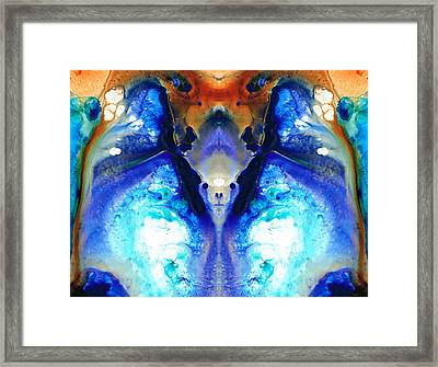 The Dragon - Visionary Art By Sharon Cummings Framed Print by Sharon Cummings