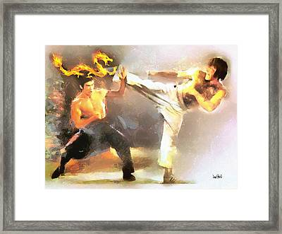 The Dragon Vs Chuck - The Block Up - 4 Of 7 Framed Print