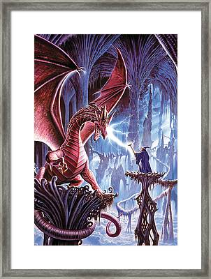 The Dragons Lair Framed Print by Steve Crisp
