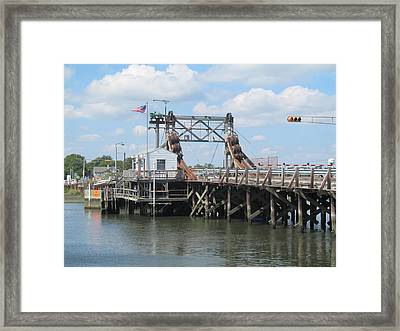 The Drawbridge In Manasquan Framed Print
