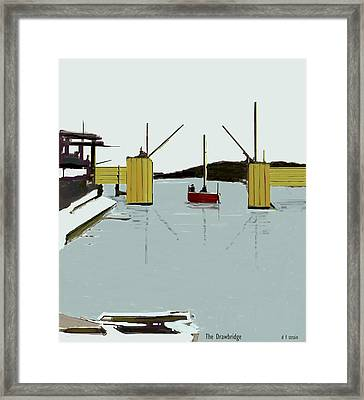 The Drawbridge   Number 4 Framed Print by Diane Strain