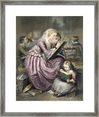 The Drawing School, C.1835 Framed Print by French School