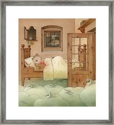 The Dream Cat 10 Framed Print by Kestutis Kasparavicius