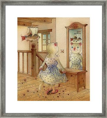 The Dream Cat 11 Framed Print by Kestutis Kasparavicius
