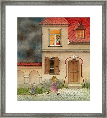 The Dream Cat 17 Framed Print by Kestutis Kasparavicius