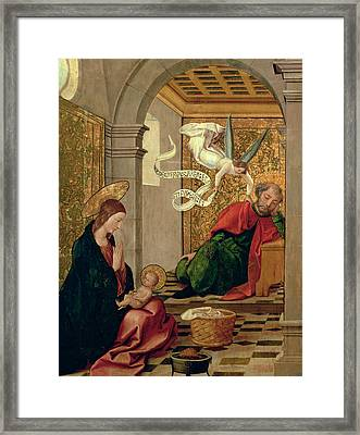 The Dream Of Saint Joseph Framed Print by Juan de Borgona