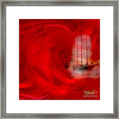 Framed Print featuring the digital art The Dreaming Rose - Fantasy Art By Giada Rossi by Giada Rossi