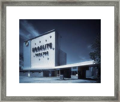 The Dreamy Moonlite Drive In Theatre Framed Print by Mountain Dreams