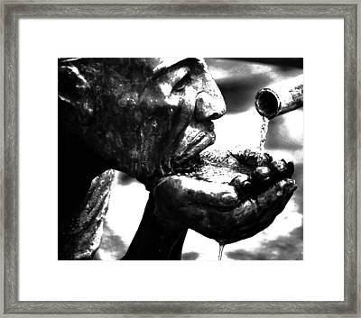 The Drink Framed Print by Leticia Latocki