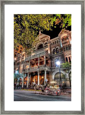 Framed Print featuring the photograph The Driskill Hotel by Tim Stanley