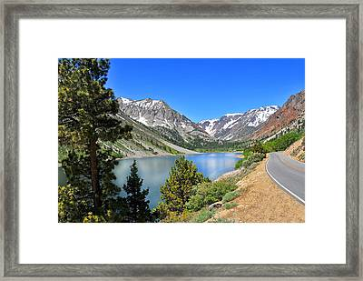 The Drive By Lundy Lake Framed Print by Lynn Bauer