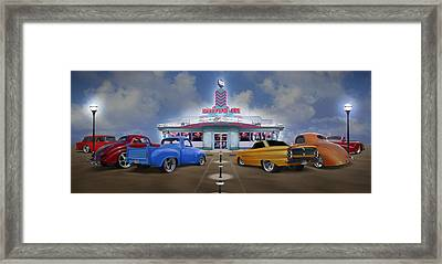 The Drive In Framed Print by Mike McGlothlen