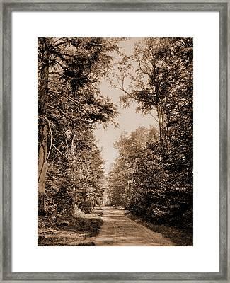 The Drive On Presque Isle Park, Lake Superior, Lakes & Framed Print