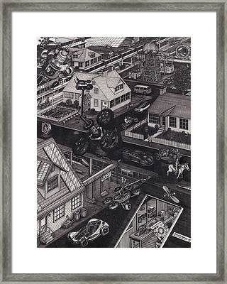 The Drone Paradox Framed Print by Richie Montgomery