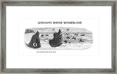 The Druidic Polar Bear Club Framed Print