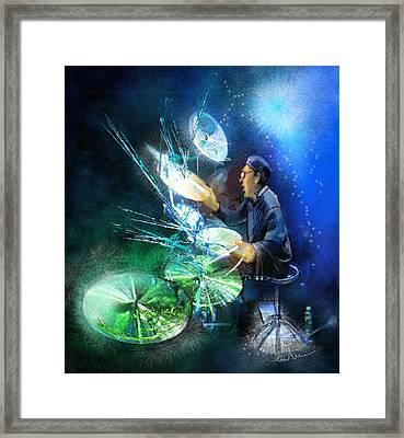 The Drummer 01 Framed Print by Miki De Goodaboom