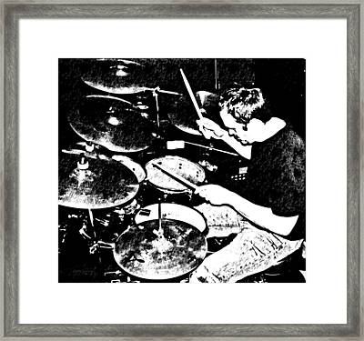 The Drummer Framed Print by Chris Berry