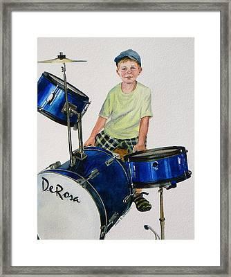 The Drummer Framed Print by Karol Wyckoff