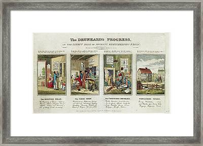 The Drunkard's Progress Framed Print by Library Of Congress