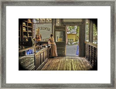 The Dry Goods Store Framed Print