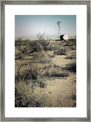 The Dry Lands Of Arizona Framed Print