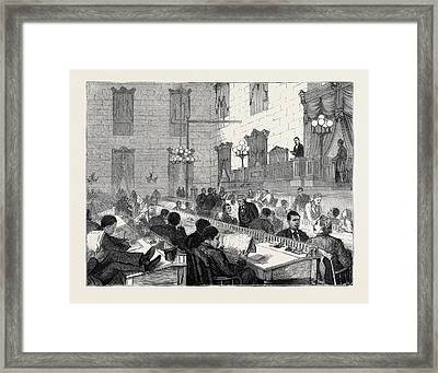The Dual Government In South Carolina Speaker Mackey Framed Print by English School