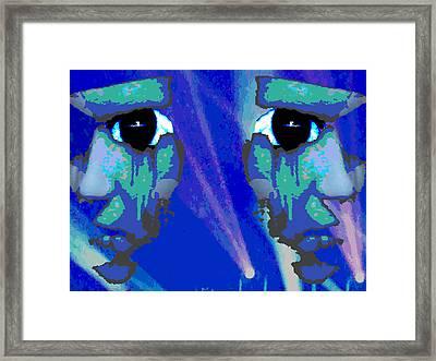 The Duality Of Man Framed Print by Jimi Bush