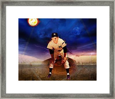 The Duality Of Mickey Mantle American Hero Framed Print