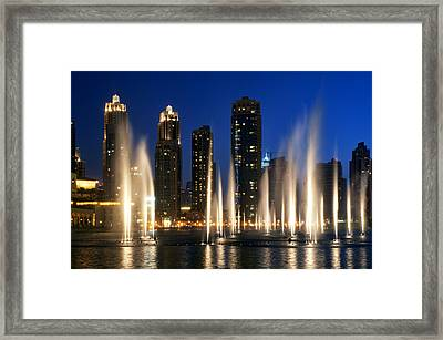 The Dubai Fountains Framed Print