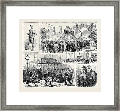 The Dublin Police Strike 1. A Usurper 2 Framed Print by English School