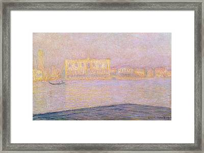 The Ducal Palace From San Giorgio, 1908 Framed Print by Claude Monet
