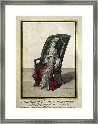 The Duchess Of Bouillon Posing Framed Print