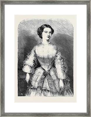 The Duchess Of Calabria Framed Print