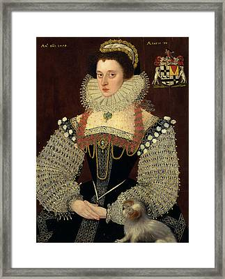 The Duchess Of Chandos Frances, Lady Chandos Inscribed Framed Print by Litz Collection