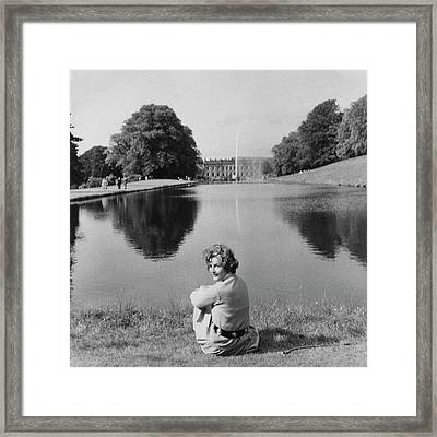 The Duchess Of Devonshire At Devonshire Palace Framed Print by Cecil Beaton