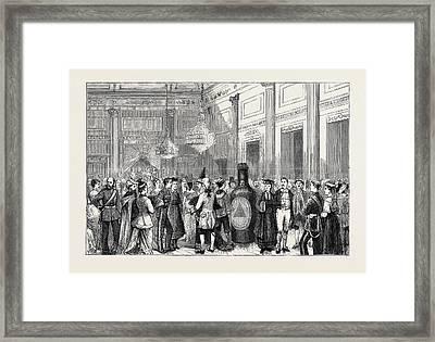 The Duchess Of Edinburgh At Malta Fancy Ball Framed Print by Maltese School