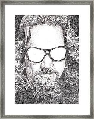 The Dude Framed Print by Paul Smutylo