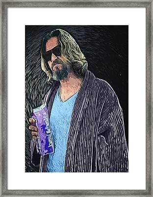 The Dude Framed Print by Taylan Apukovska