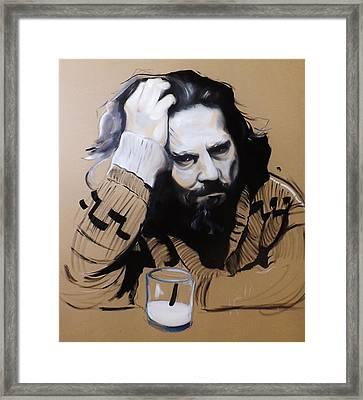 The Dude - The Big Lebowski Framed Print