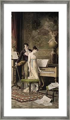 The Duet Framed Print by Karl the Elder Schweninger